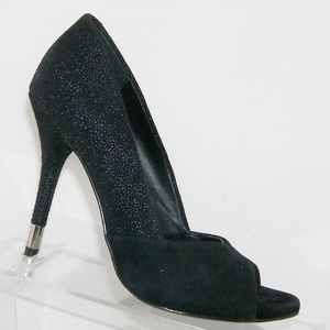 BCBGeneration 'Izzie' black suede v-cut heels 6B